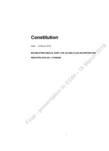 49485684(1) - Pro forma Constitution by SLSNSW
